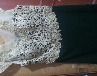 فروش لباس مجلسی به رنگ سبز لجنی