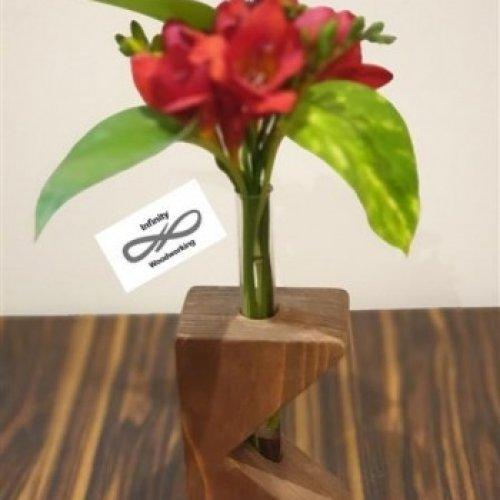 گلدان چوبی رومیزی