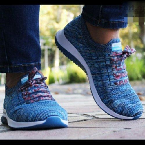 کفش کتانی زنانه اسکیچرز مدل فلکسی