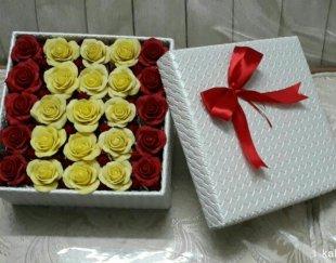جعبه گل چرمی گل رز