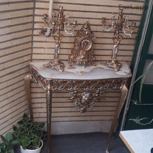 آیینه شمعدان طلایی
