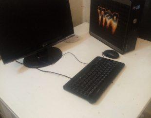 کامپیوتر مینی کیس و مانیتور ۱۷ اینچ با کیبرد و موس