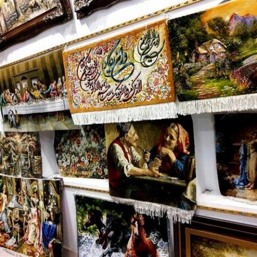 پخش تابلو فرش های دستباف تبریز به قیمت عمده