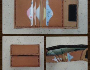فروش کیف پول جیبی چرم طبیعی ( دست دوز )