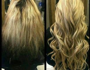 فروش موهای طبیعی اکستنشن ازبک با ضمانت ۵ ساله