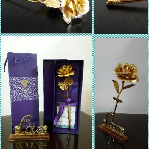 گل رز طلایی کادوئی شیک و ماندگار