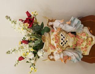 گلدان پلی استر همراه گل