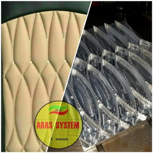 روکش صندلی – قالب لمسه و کلیشه حرارتی و فرکانسی