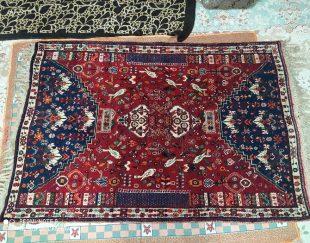 فرش دست بافت بسیار زیبا با قدمت ۵۵ سال