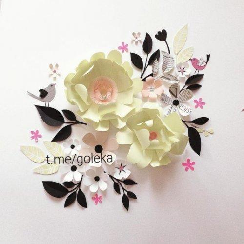گل مقوایی تزئینی دکوراتیو کاغذی