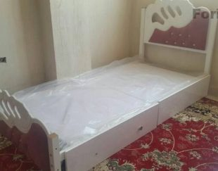 تخت دخترانه تمام MDF