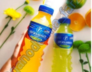 نوشیدنی ورزشی ویتامینه ایزوتونیک داینامین بدون شکر ، گاز و کافئین ( ۱۰ نوع ویتامین و ۸ نوع ماده معدنی )