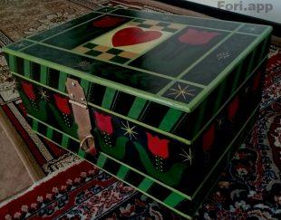 جعبه نقاشی شده در ابعاد ۳۰*۴۰ و ارتفاع ۲۰