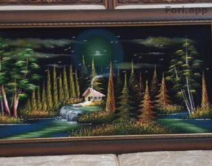 تابلو مخمل با نقاشی رنگ روغن