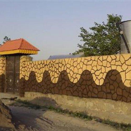 تبلیغات دیوارنویسی،رنگ امیزی،نقاشی وطرح سنگ باغ ویلا