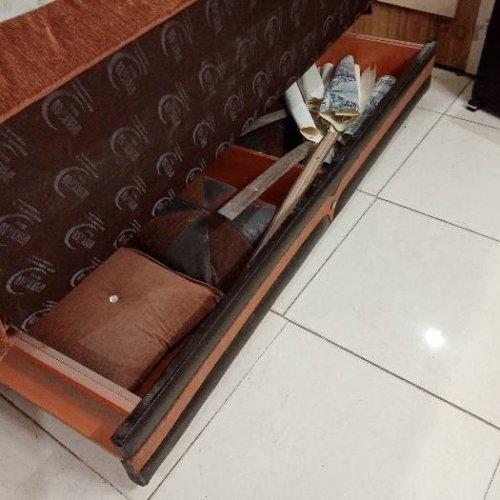 مبل تختخواب شو دو نفره کار ترک رویه مخمل شاسی فلزی ساخت ترکیه