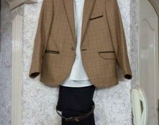 کت و شلوار و پاپیون و کفش و پیراهن در حد نو