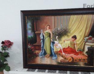 تابلو رنگ وروغن چند تا آخر در منزل بفروش میرسد با یک چهارم قیمت