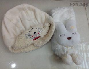 دوعدد کلاه نوزادی پسرانه