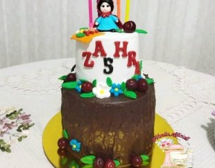 کیک خانگی وانیلا