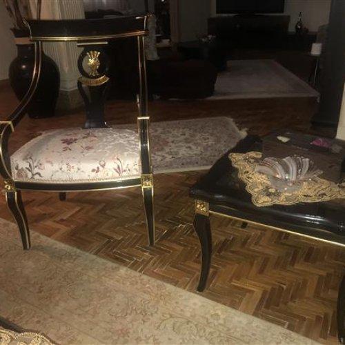 مبل استیل به همراه میز وسط و عسلی