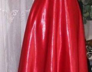 لباس مجلسی ساتن آمریکایی قرمز شاین