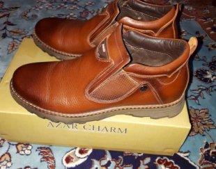 کفش چرم قهوهای اصل تبریز سایز ۴۲