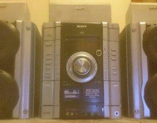 سیستم صوتی تصویری SONY مدل MHC_ RV888D پخش DVD CD MP3همراه با ۵ باند دالبی سوراند(سینمای خانگی)