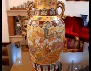 گلدان چینی ۴۵ سانت نقاشی دست