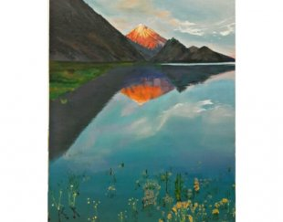 تابلوی نقاشی زنده از کوه دماوند