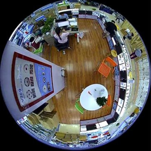 دوربین مداربسته فیش آی پاناروما تصویر ۳۶۰ درجه