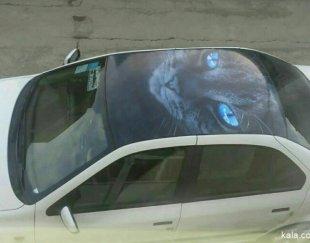 فروش انواع محافظ سقف وبرچسب های سه بعدی خودرو