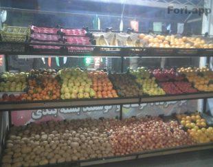 میز میوه فروشی خیلی شیک ۳ طبقه ابعاد ۳.۱۰×۷۰