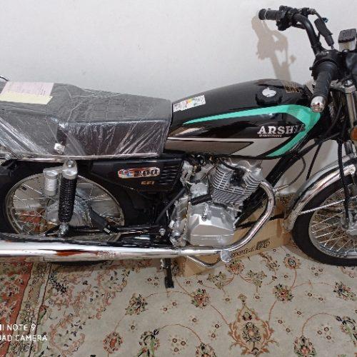 موتورسیکلت عرشیا مشکی انژکتور۲۰۰سی سی خشک صفرکیلومتر