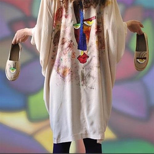 آموزش نقاشی روی پارچه و لباس در رشت