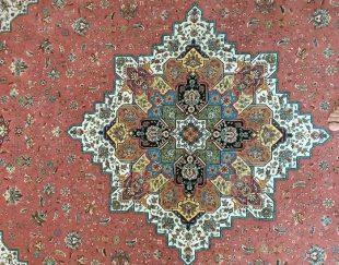۲عدد فرش ۶متری درجه یک ۱۲۰۰شانه ۳۶۰۰تراکم طرح هریس