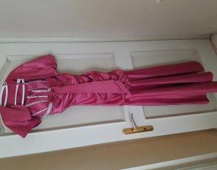 لباس مجلسی در حد نو زنانه صورتی رنگ تیره