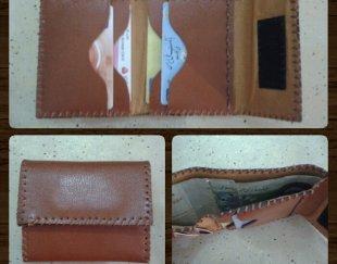 فروش کیف پول چرم طبیعی دست دوز