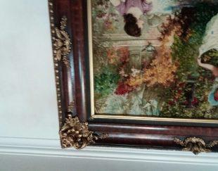 تابلو فرش طرح گردش در قصر