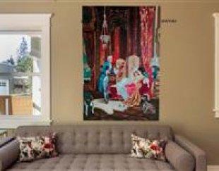 تابلو نقاشی – تکنیک رنگ روغن سبک کلاسیک مدل فرانسوی