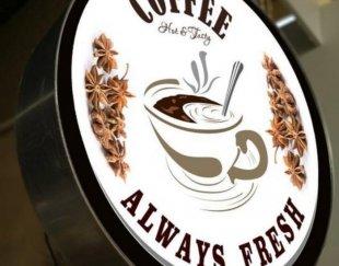 تابلو قهوه کافه (دوطرفه)