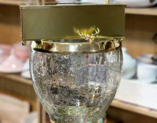 سطل دستمال آبگز طلایی به آبکاری عالی