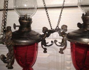 چراغ آویزبرنجی قدیمی