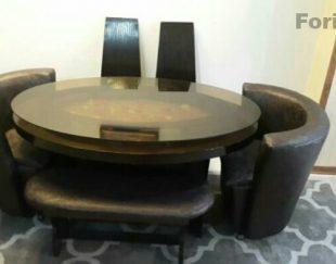 یک دست میز نهارخوری شش نفره سالم