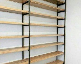 انواع کتابخانه و قفسه های چوب و فلز