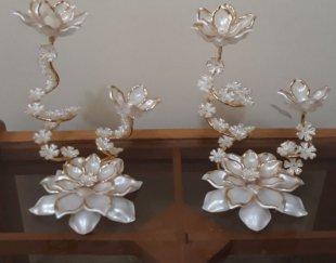 جا شمعی تزیینی – گل کریستالی