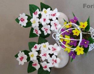 ساخت انواع گل شیک