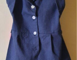 پیراهن دخترانه جین در حد نو