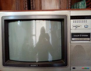 تلویزیون سونی قدیمی گلاسیک رنگی ۲عدد ویک سیاه و سفید خیلی تمیز