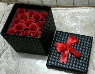 باکس چرمی گل رز